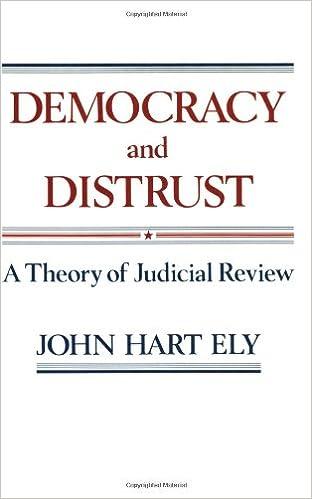 Democracy And Distrust Harvard Paperbacks John Hart Ely