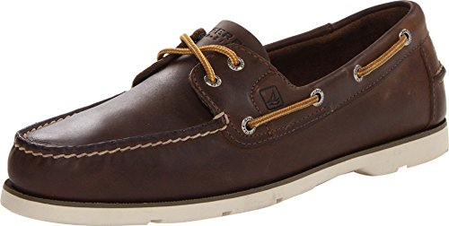 (Sperry Top-Sider Men's Leeward 2-Eye Dark Brown Boat Shoe 8.5 Men US)