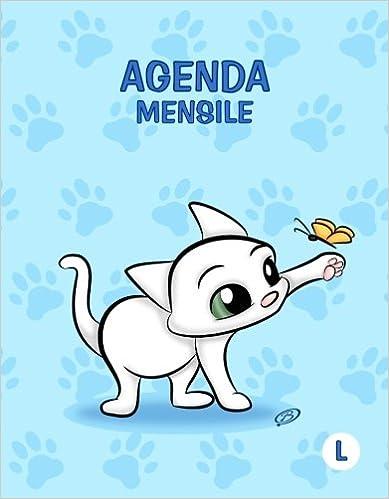 Agenda mensile - L: Azzurro - Gatti - Perpetua (Senza date ...
