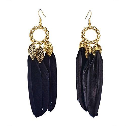Pandahall Fashion Feather Earrings Earring