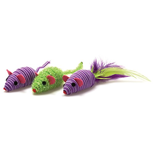 OurPets Three Twined Mice Cat Toys, 3 ()