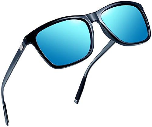 Joopin Unisex Polarized Sunglasses Classic Men Retro UV400 Brand Designer Sun glasses (Blue Aluminum ()