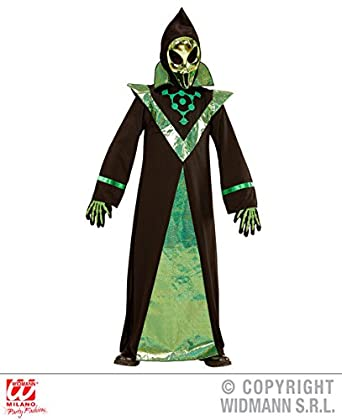 Childs Boys Alien Fancy Dress Martian Sci-Fi Halloween Costume Outfit