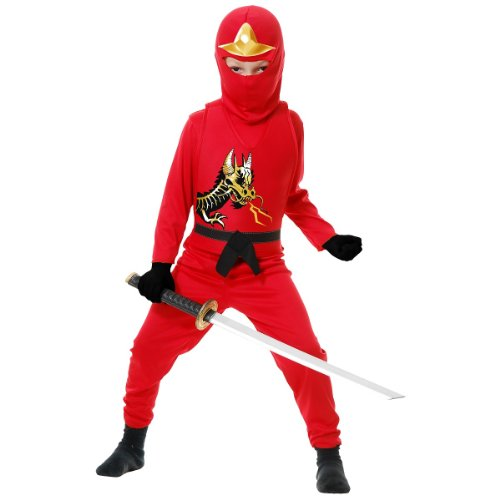 Ninja Avenger II with Armor, Red, Child Small ()