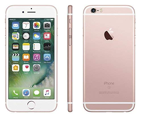 17 - Apple iPhone 6S, GSM Unlocked, 64GB - Rose Gold (Renewed)