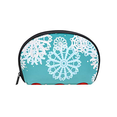 Senya Travel Cosmetic Bag Small Makeup Portable Carry Case Pouch Girls Women Personalized Organizer Tote Bag For Jewelry Toiletries Soda Drink Dress Form Christmas Cats Love Birthday Party Gift Backg]()