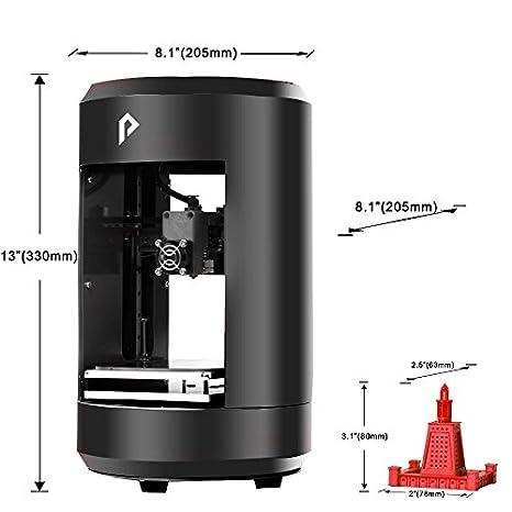 pxmalion Mini 3d impresora, único extrusor, construir tamaño 4