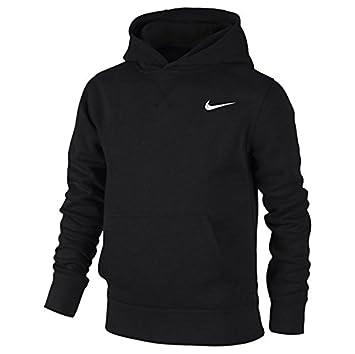 Nike Kids Brushed Fleece Hoodie , Black/White, X,Small