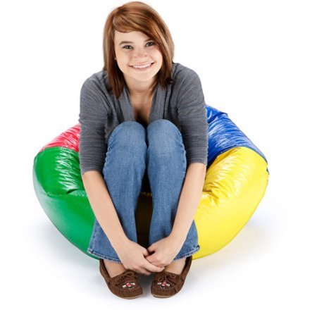 Shiny Bean Bag 96'' Round Vinyl , Multiple Colors.Multi for for video gaming, reading, listening to music, watching TV or gabbing on the phone!