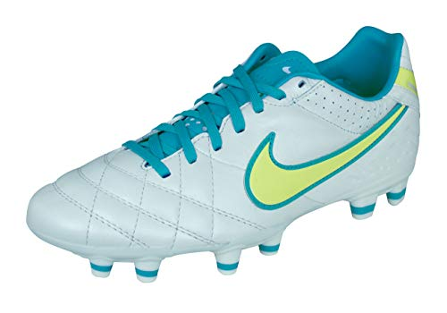 Nike Tiempo Mystic IV FG Womens Leather Soccer Cleats-White-6.5