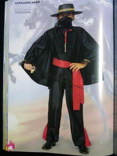 fiori paolo 23054 disfraz de zorro 3/4 caballero negro: Amazon.es ...