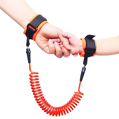 Heatoe Children's Anti-Lost Rope Traction Rope, Baby's Safe Anti-Lost Bracelet, with Lock -1.5m-Orange. ()