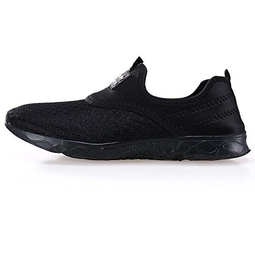 ec795621a088 Pooluly Men s Lightweight Athletic Quick Drying Mesh Aqua Slip-on Water  Shoes