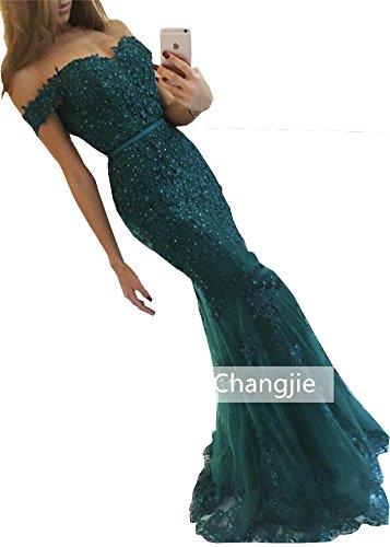 Changjie donna del Donna lungo abito sirena da vestito elegante ballo Verde Sexy sera CzTnpIxwC