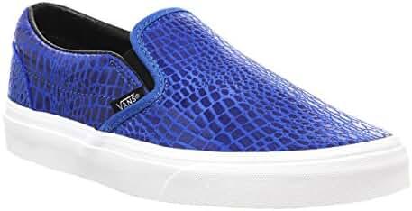 Vans Unisex Classic Slip-On Snake Leather Sneakers