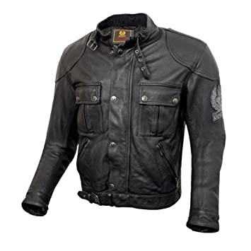 60f526a7 Belstaff Mojave jacket black aged leather - XL: Amazon.co.uk: Sports ...
