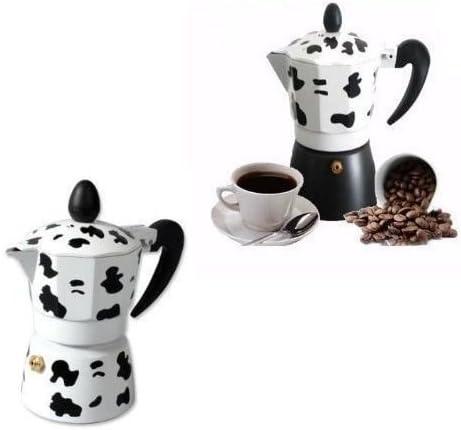 Cafetera con capacidad para 2 tazas con diseño en colores de vaca ...