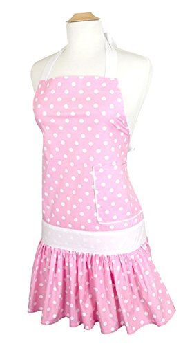 Flirty Aprons Women's Sadie Strawberry Shortcake Apron Angels Apron