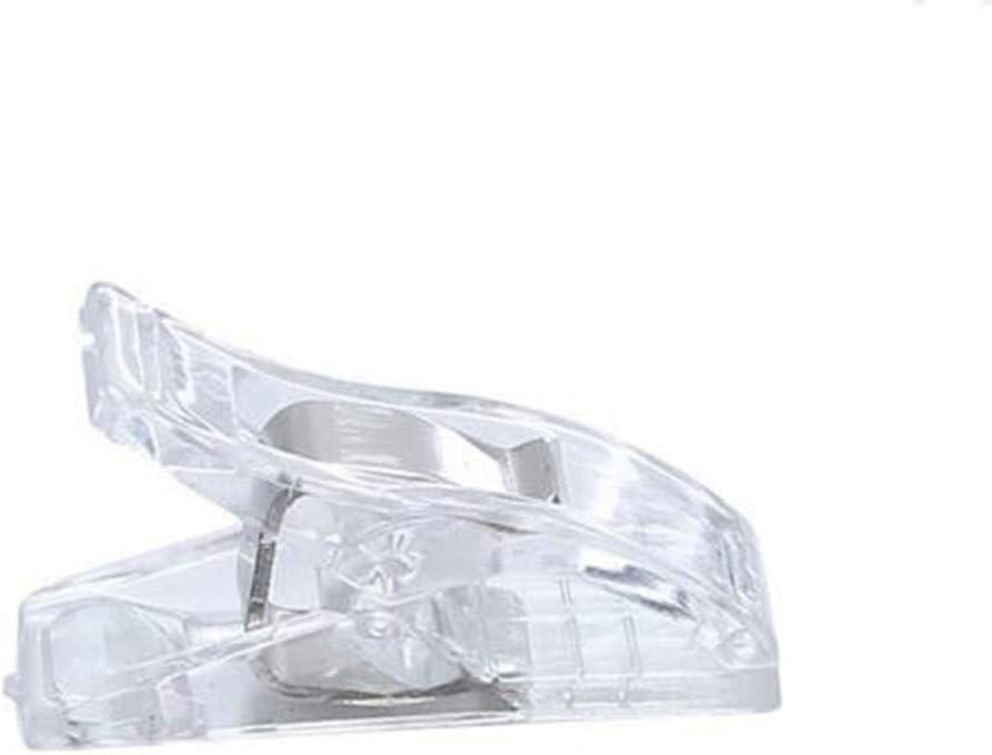 Flybloom 50 St/ück Plastikklammern Stoffklammern Patchwork S/äumen N/ähwerkzeuge Zubeh/ör (Transparent