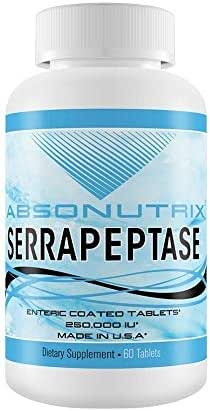 Absonutrix Serrapeptase 250,000 IU Enteric Coated 60 Tabs Enzymes