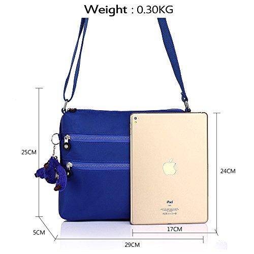 ANNA GRACE - Bolso cruzados de piel sintética para mujer Design 1 - Blue