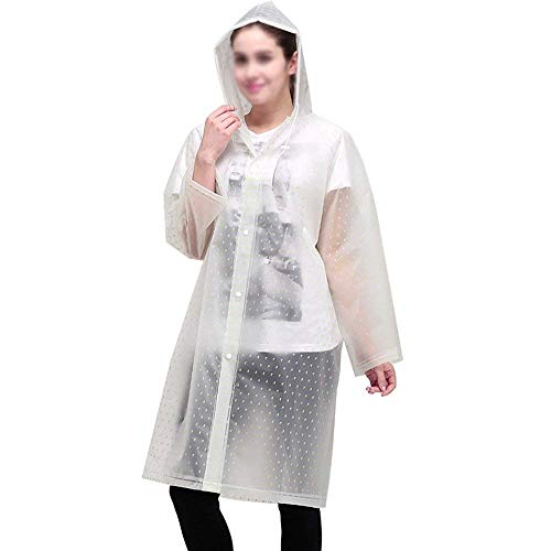 Multi Dame Plus Trekking Plastique En Pluie Capuche Adulte À Long Épais Battercake Imperméable Plein Poncho Air 2 Portable L'eau Casual Transparent CqxpU