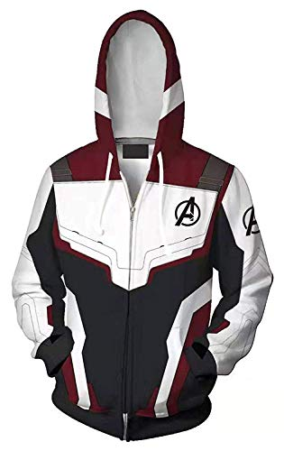 Jemooto Mens Superhero Hoodie Sweatshirt Jacket Halloween Cosplay Costume (Zipper, XXL) ()