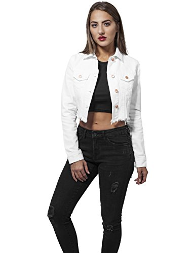 Jacket White Urban en Classics Jean Short Denim Femme Blanc 220 Veste Ladies wBZqgU