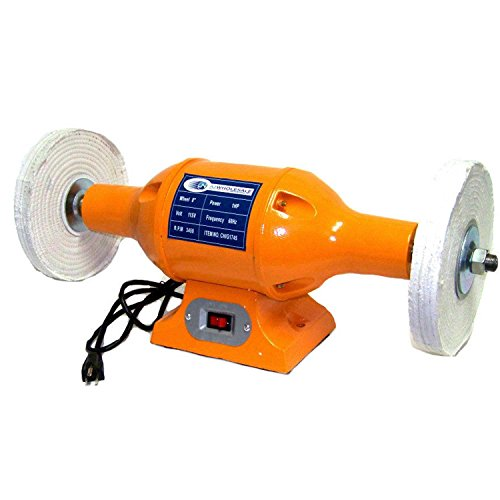 8'' Long Shafts 1hp H D Top Bench Buffer Polisher Grinder Cleaner Bench-top by Generic