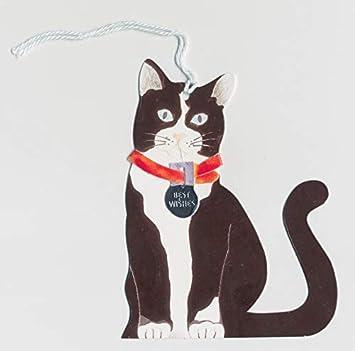De gato etiquetas para regalos de Navidad diseño de muñeco con auriculares paquetes de 12 etiquetas de Navidad diseño de gatos: Amazon.es: Hogar