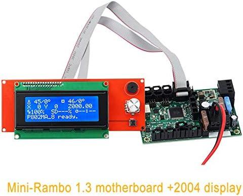 ROKOO Accesorios de Impresora 3D Mini-Rambo 1.3 Mainboard Set para ...