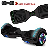 NHT Hoverboard Electric Self Balancing Scooter with Build in Bluetooth Speaker Hover Board LED Lights Safety Certified (Midnight)