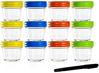 12Pk Xmifer Food Storage Containers-Baby Food Storage-Glass Jars