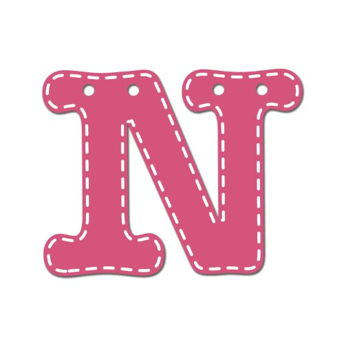 CoCaLo Mix & Match Pink Hanging Letter, N