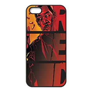 Custom RED Back Cover Case for iphone5,5S JN5S-181 by mcsharks