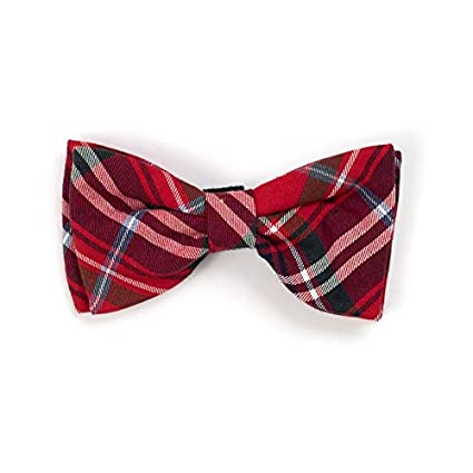 8c8466a3ca20 Amazon.com : Huxley & Kent Dog Bowtie Red Plaid Dog Bow Tie -Small - Loops  onto Current Dog Collar : Pet Supplies