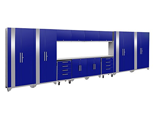 NewAge Products Performance 2.0 Blue 14 Piece Set, Garage Cabinets, 53867
