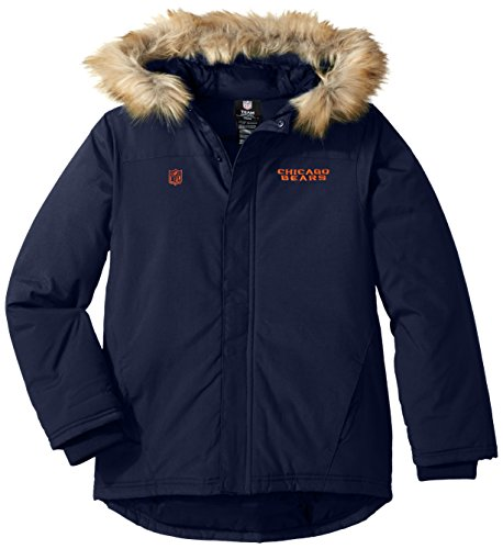 Chicago Bears Jackets Heavyweight - Outerstuff NFL Youth Boys Recon Heavyweight Parka Jacket-Deep Obsidian-M(10-12), Chicago Bears