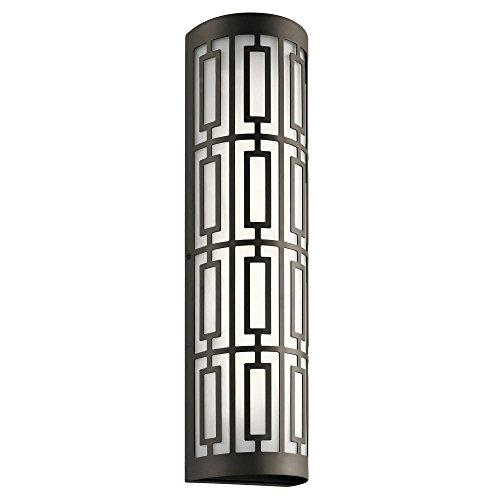 Kichler Lighting Empire Collection 22-inch Olde Bronze LED Outdoor Wall (Lis Sconce Vase)