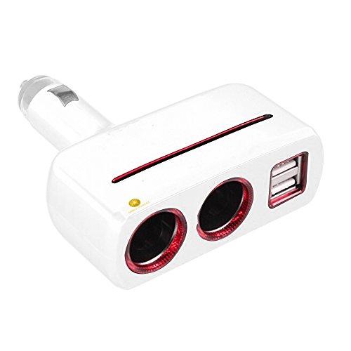 3.1A Dual 2 USB Ports One Way Car Cigarette Lighter Power Socket - 8