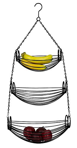 Chic Design Oval 3 Tier Fruit Vegetables Hanging Black Baskets Provide Your Kitchen More Space - Beyond Modern Brushed Nickel Bowl