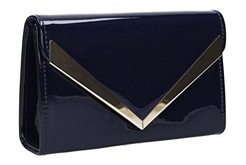 Envelope SwankySwans Navy Womens Blue Rita Patent Clutch 8wwU6BpTq