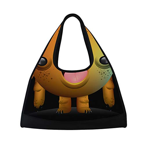 5ba6cce3b095 Duffel Bag Cute Monster Shoulder Yoga Gym Tote Bags Sports Bag for Men Boys