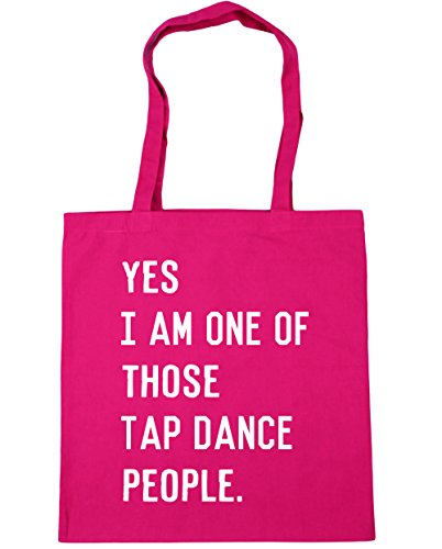 HippoWarehouse Yes I am one of those tap dance people Tote Shopping Gym Beach Bag 42cm x38cm, 10 litres Fuchsia