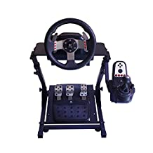 Racing Steering Wheel Stand for Logitech G25/G27/G29 and G920 Racing Steering Wheel Stand Wheel and Pedals Not Included CP202