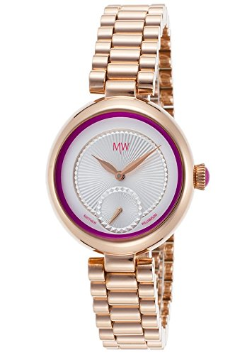 Matthew Williamson Lbm36003-06 Women's Rose-Tone Base Metal Silver-Tone Dial Purple Accent - Williamson Matthew Shop