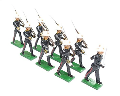 British Toy Soldier Company BTS38 Royal Marines, 1936 Dress Uniform with Officer, Marching with Rifle at Slope