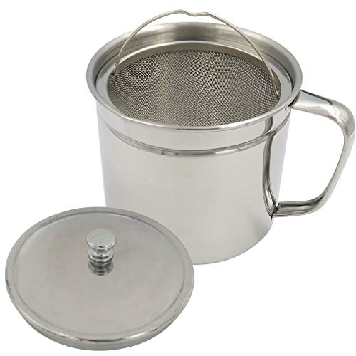Evelots Storage Strainer Container Bacon Grease Keeper Stainless 5 product image