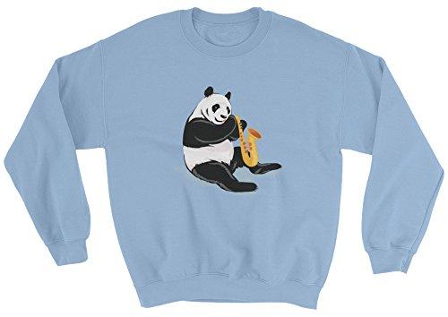 The Jazzy Panda Women's Panda Crewneck | Funny Bear Lover Gift Sweatshirt (Christmas Care Jumper Bear)