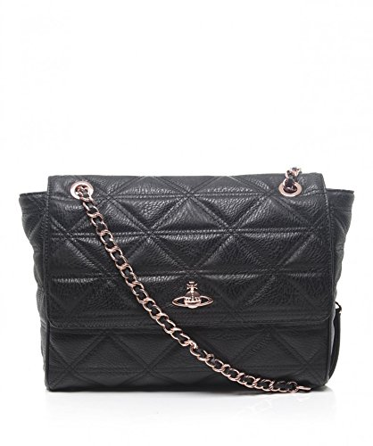 06f8244ad6 Vivienne Westwood Accessories Large Shoulder Bag Black Quilted Chain Black  Size: Unique Size